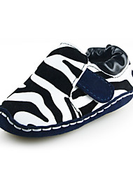 Zebra-printed Baby Boys Slip On Shoes Outdoor Suede/Faux Leather Loafers