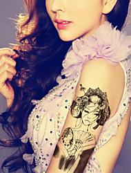 Outros Tatuagem Adesiva - Non Toxic/Estampado/Tamanho Grande/Lombar/Waterproof - para Feminino/Masculino/Adulto/Adolescente - de Silicone