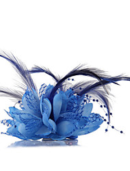 Blue Feather Flower Fascinators for Wedding/Party Headpiece