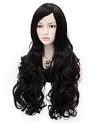 Sexy Women Anastasia  Long Wave Wig Black