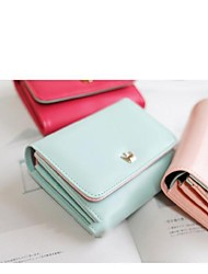 PU Leather High Quality New Korean Style Female Two-Fold Short Wallet Card Package Wallets