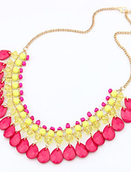 Women's Statement Necklaces Acrylic Alloy Bohemia Black Yellow Blue Pink Jewelry Wedding Party Daily Casual 1pc
