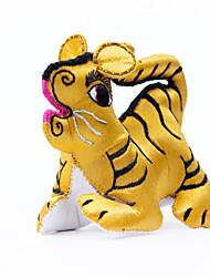 Pendentif-douze porcelaine broderie à la main zodiac tigre stéréoscopique