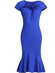 женская сексуальная сторона старинных Bodycon случайные короткое платье рукав