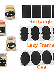 36Pcs Chalk Pen Chalkboard Sticker Labels Vinyl Kitchen Jar Decor Decals 5CM X 3.5CM