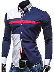 Men's Casual Long Sleeved Shirt Stitching