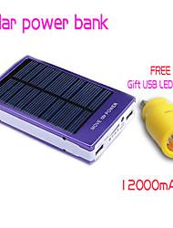 100% реальный 12000mAh новый банк солнечной энергии Внешняя батарея солнечное зарядное устройство