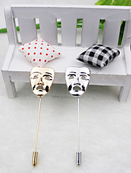 Mask Brooch (1Pc)