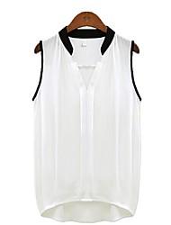 Normaal Casual/Werk - Blouse ( Polyester