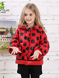 2015 Girl's Winter Dot Printing Cotton Padded Thicken Jackets Down Coats Teen Brand Kids Clothes Children Clothing