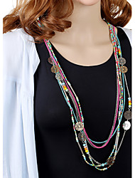 Hollow Crystal Beaded Necklace