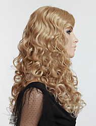 Blone Curly  Hair Wigs Synthetic Hair Wigs Europe Style