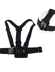 ourspop gp59 une bande modèle de poitrine avec bande de tête b modèle pour Hero GoPro 4 3 + / 3/2/1