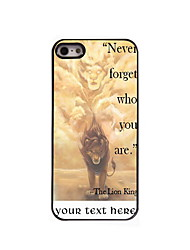 Personalized Gift Never Forger Who You Are Design Aluminum Hard Case for iPhone 5/5S