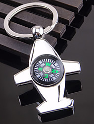 Zinc Alloy Stereo WWII Aircraft Compass Key Chain Rigng Keyring