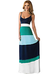 Women's Sexy Strap Backless Slim Long Maxi Dress