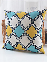 Country Style Geometric Pattern Cotton/Linen Decorative Pillow Cover