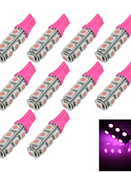 10X Pink T10 13SMD 5050 LED Car Clearance Indicator Lamp Side Light DC 12V A012