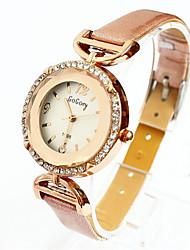 Women's High quality Round corner cut glass diamond quartz watch