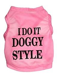 "Lovely ""I Do It Doggy Style"" Pattern Terylene Vest for Dogs (Assorted Sizes)"