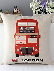 евро Лондонский автобус с рисунком хлопок / лен декоративная подушка крышка