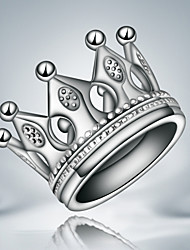 100% Real 925 silver plated ring crown king design silver ring