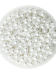 Beadia 100g(Approx 1000Pcs)  ABS Pearl Beads 6mm Round White Color Plastic Spacer Loose Beads For DIY Jewelry Making