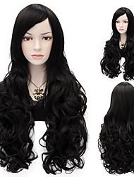 Sexy Women Anastasia  Long Wave Wig Black