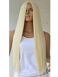 80 cm de oro en los puntos de alambre de alta temperatura a largo sstraight peluca de pelo