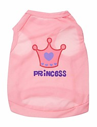 Princess Crown Pattern Vest for Pets Dogs (Assorted Sizes and Colors)