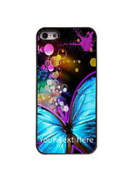 Personalized Gift Beautiful Butterfly Design Aluminum Hard Case for iPhone 4/4S