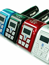 lecteur mp3 bluetooth transmetteur fm avec identification de l'appelant mains libres (couleurs assorties)