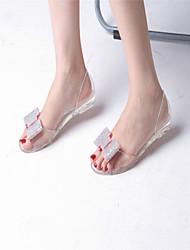 Women's Shoes Rubber Low Heel Open Toe Sandals Outdoor/Casual Blue