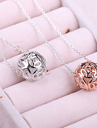 Korean Fashion Jewelry Crystal Diamond Female Alloy Transfer Lucky Beads Simple Atmosphere Pendant Necklace