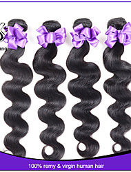 7A Unprocessed Malaysian Virgin Hair Body Wave 1Pcs Lot Human Hair Extensions Natural Color Hair Weaves Wavy