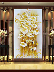 3D Three-Dimensional Diamond Lily Painting Vertical Version Of The New European Paintings Entrance Hallway Paste Stitch