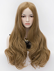 Women Heat Resistant Wavy Curl  Long Sexy Hair Cosplay Party Costume Full Wig Flaxen