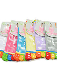 Fashion Free Size Cotton Multi-Colored Five Toe Yoga Socks*(1Pr)