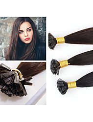 "1pc 18""-30"" Brazilian Human Hair Prebonded Kertain Flat Tip Hair Extension 100g/pc 1g/strand Straight Hair #1b,#27,#613"
