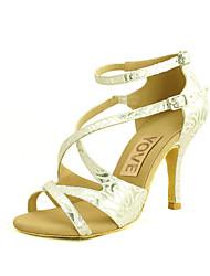 Zapatos de baile (Plata) - Danza latina/Salsa - Personalizados - Tacón Personalizado