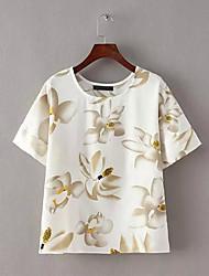 Women's Vintage Floral Print Blouse (Chiffon)