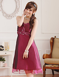 Women's Elegant Straps Sleeveless Bridesmaid Plus Size Dress/ Wedding Party Plus Size Dress