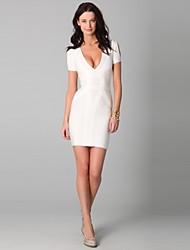 Cocktail Party Dress Sheath Short/Mini Casual Lady Spandex/Nylon/Rayon Fashion Women Evening Bandage Dress