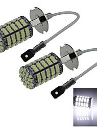 2X 127 1206 SMD LED H3 Bulb White Fog Light Parking Low High Beam Lamp DC 12V H059