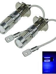 2X 5 COB SMD LED H3 Bulb Blue Fog Light Parking Low High Beam Lamp 7.5W AC/DC 12-24V H062