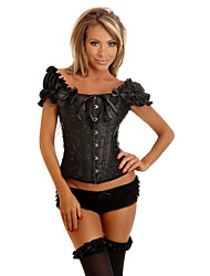 NEW Flowers Sexy Lace Up Boned Overbust Corset Bustier Top G-String Cincher Waist Trainer