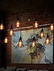 maishang® luz pendente 12 luzes estilo country ferro forjado