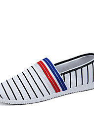 Men's Shoes Casual Canvas Loafers Blue/Red/White