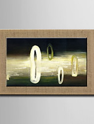 Oil Paintings One Panel Modern Abstract Hand-painted Natural Linen Ready to Hang