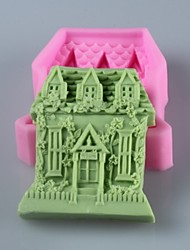 House  Shaped  Soap Mold  Fondant Cake Chocolate Silicone Mold, Decoration Tools Bakeware